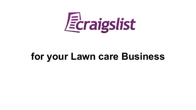 for your Lawn care Business