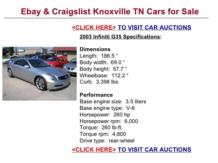 Ebay Amp Craigslist Knoxville Tn Cars For Sale