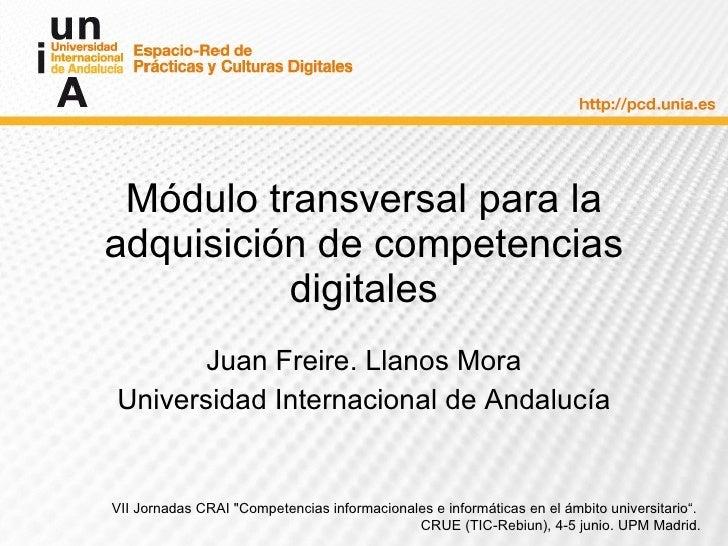 Módulo transversal para la adquisición de competencias digitales