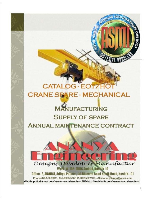 Crane spare mechanical