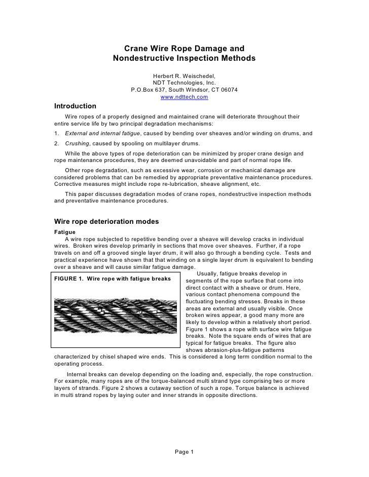 Damage Inspection Method Inspection Methods