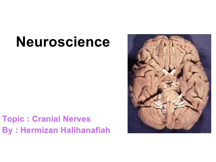 NeuroscienceTopic : Cranial NervesBy : Hermizan Halihanafiah