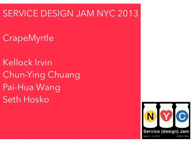 NYC Global Service Jam, Team Crape Myrtle