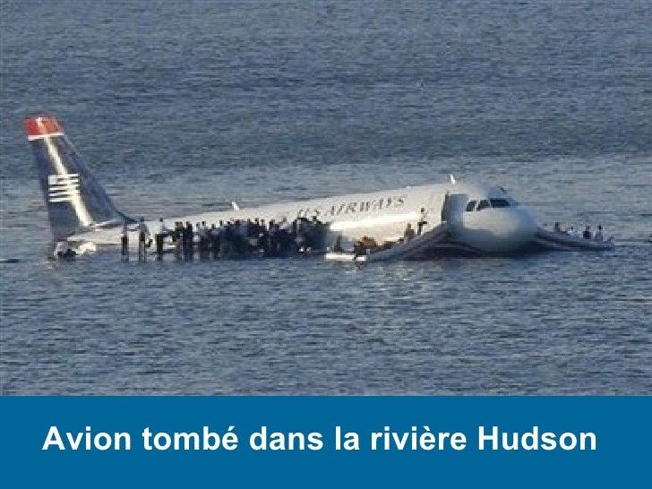Avion tombé dans la rivière Hudson