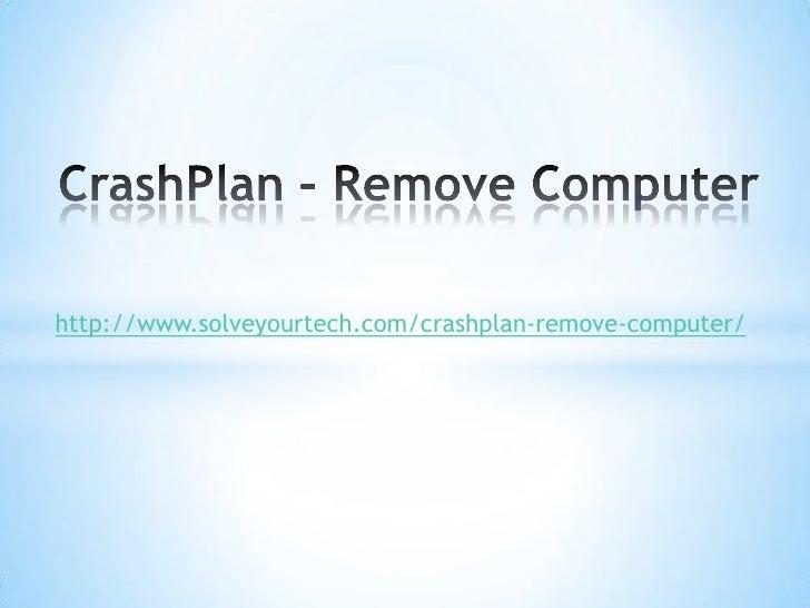 Crashplan - Remove Computer
