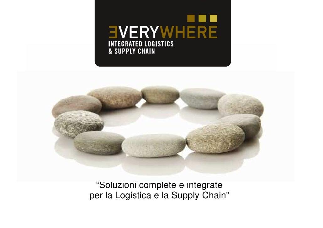 """""""Soluzioni complete e integrateper la Logistica e la Supply Chain"""""""