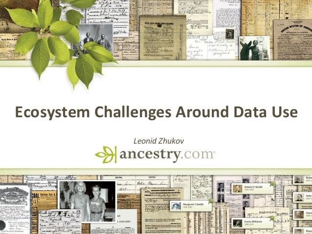 Ecosystem  Challenges  Around  Data  Use     Leonid  Zhukov