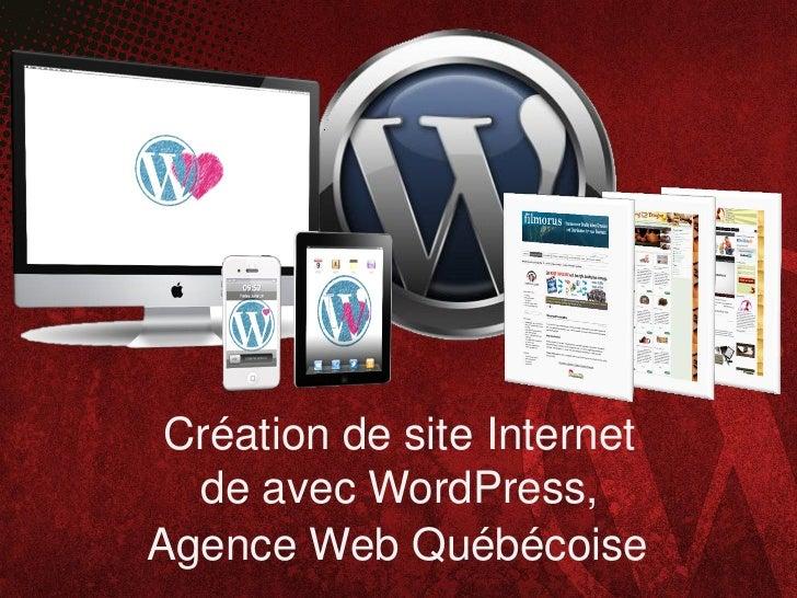 Création de site Internet  de avec WordPress,Agence Web Québécoise