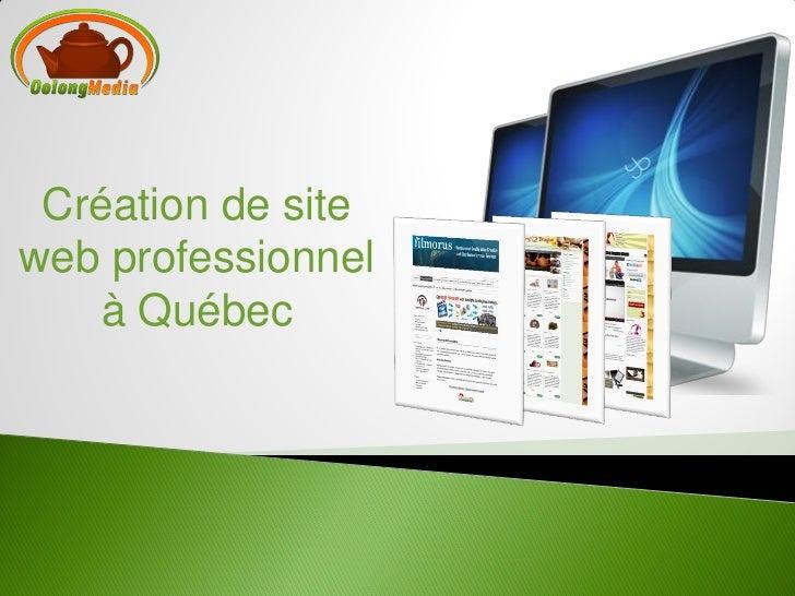 Création de siteweb professionnel    à Québec