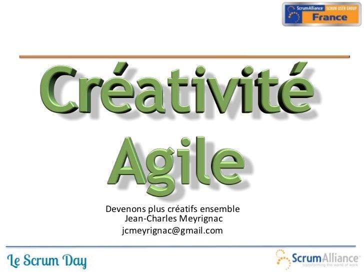 Créativité agile scrum day2012
