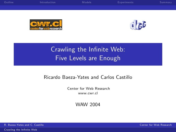 Crawling the Infinite Web (WAW 2004 Rome)