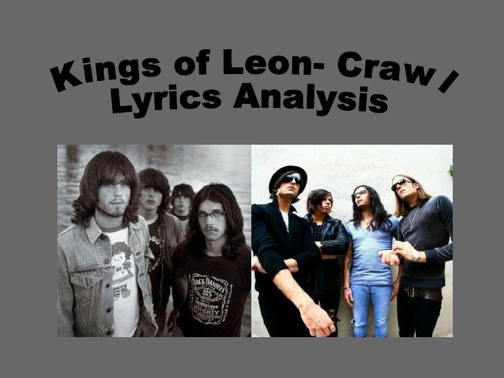 Kings of Leon- Crawl Lyrics Analysis