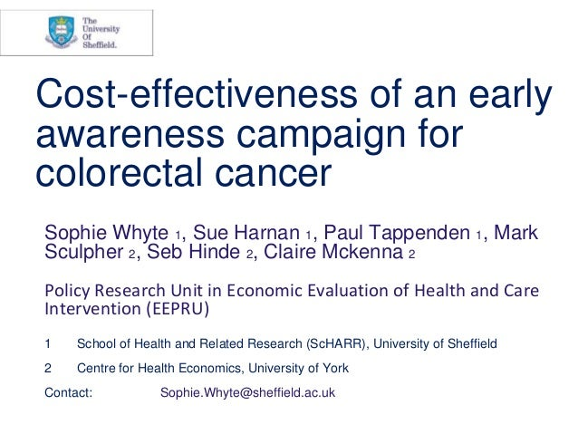Cost-effectiveness of an early awareness campaign for colorectal cancer