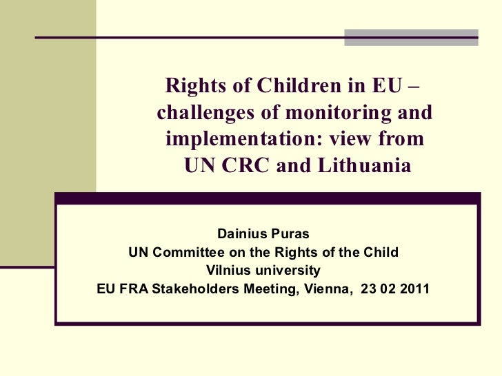 CRC Dainius Puras - Challenges of monitoring and implementation