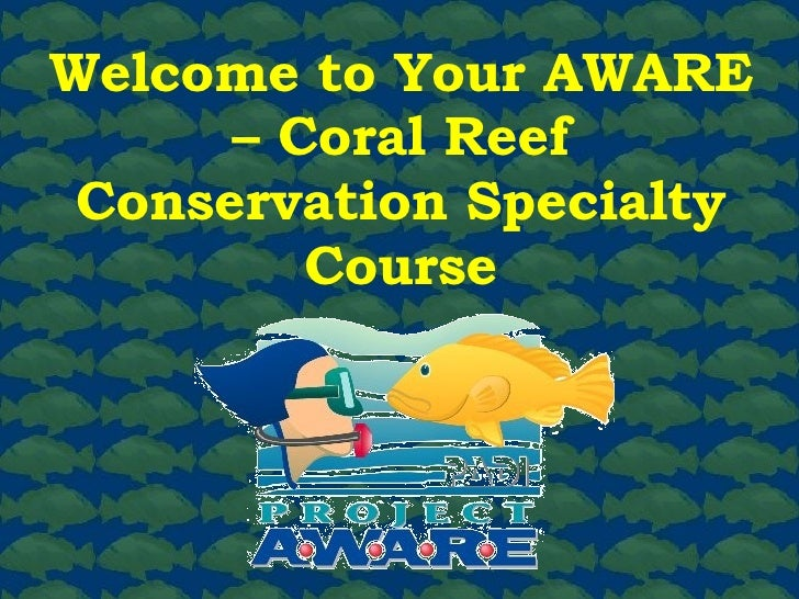 Welcome to Your AWARE – Coral Reef Conservation Specialty Course