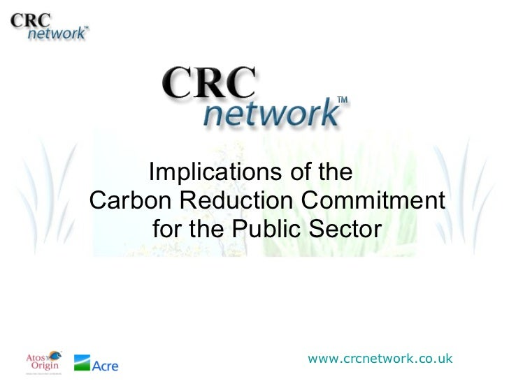 Implications of the  Carbon Reduction Commitment for the Public Sector