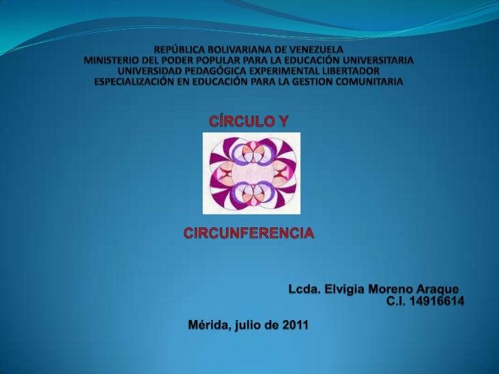 REPÚBLICA BOLIVARIANA DE VENEZUELAMINISTERIO DEL PODER POPULAR PARA LA EDUCACIÓN UNIVERSITARIAUNIVERSIDAD PEDAGÓGICA EXPER...