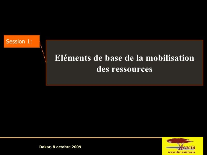 Tutorial 3: Mobilisation Resources Session 1