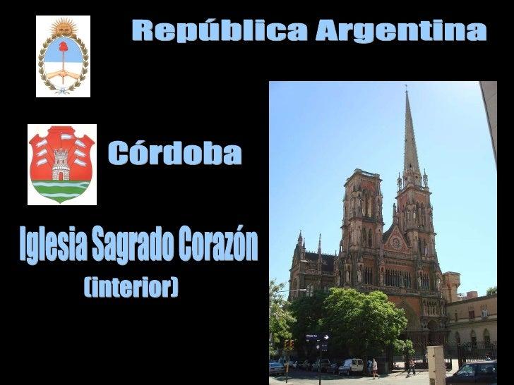 República Argentina Córdoba Iglesia Sagrado Corazón (interior)