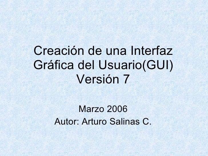 CreacióN De Una Interfaz GráFica Del Usuario(Gui)