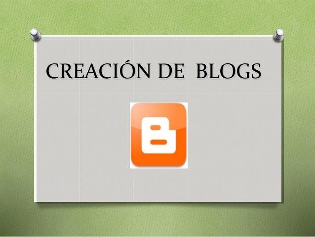 Creando blogs