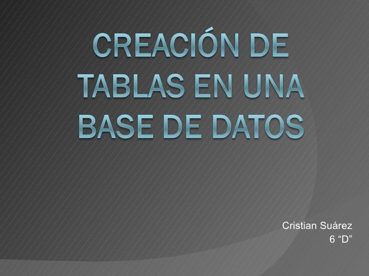 "Cristian Suárez 6 ""D"""
