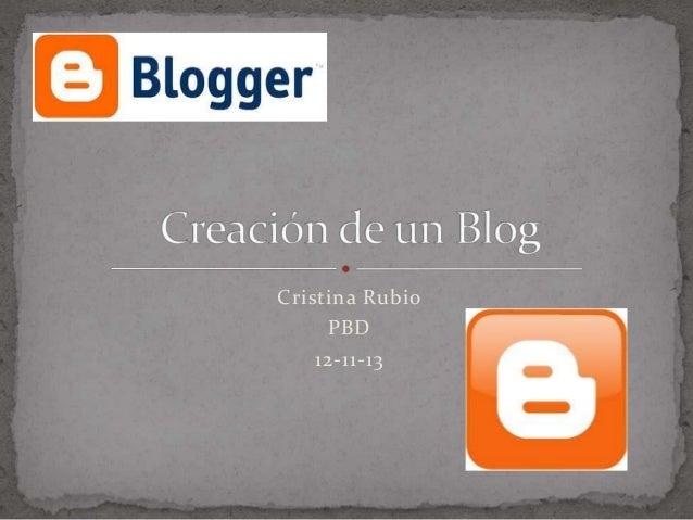 Cristina Rubio PBD 12-11-13