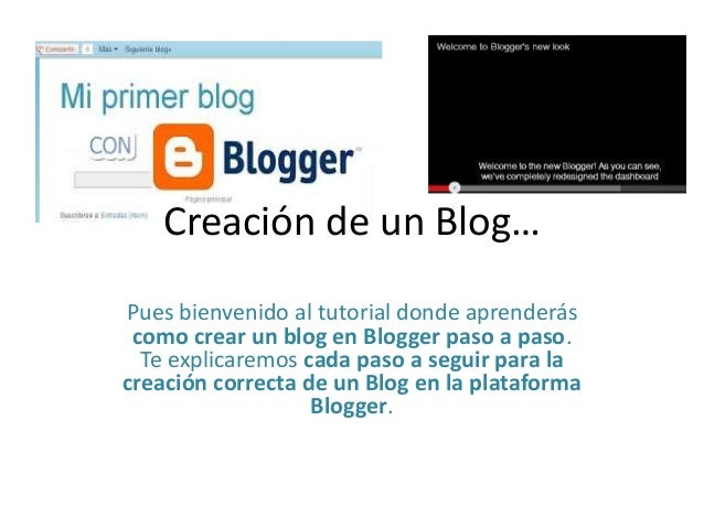 Creación de un Blog… Pues bienvenido al tutorial donde aprenderás como crear un blog en Blogger paso a paso. Te explicarem...