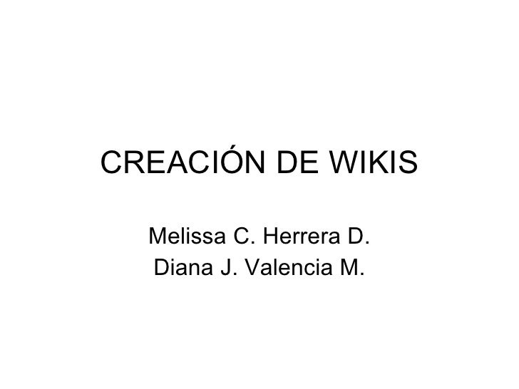 Creación de wikis