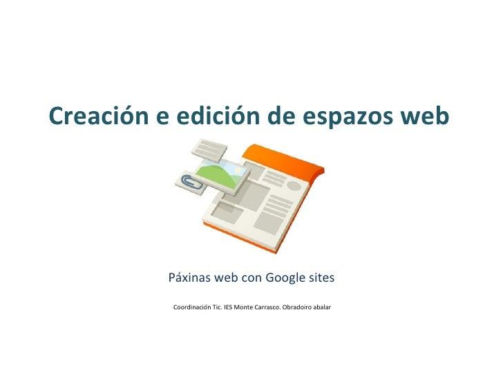 Creación e edición de espazos web.pps