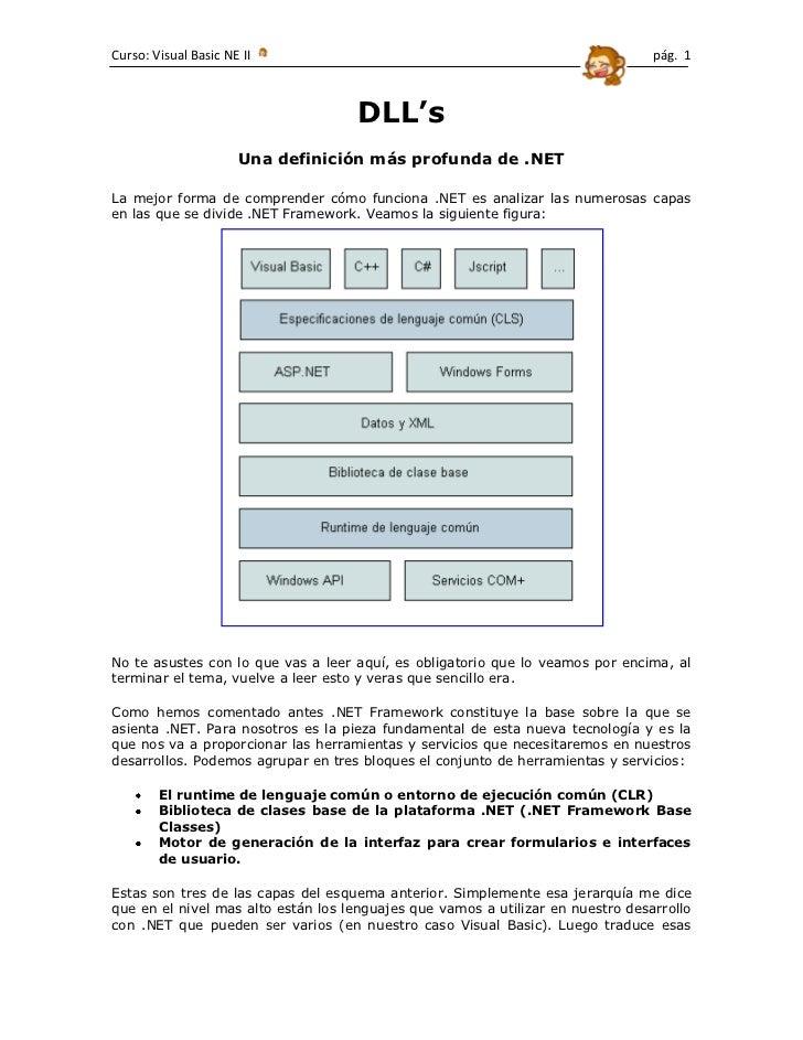 DLL's<br />Una definición más profunda de .NET<br />1072515531495La mejor forma de comprender cómo funciona .NET es analiz...