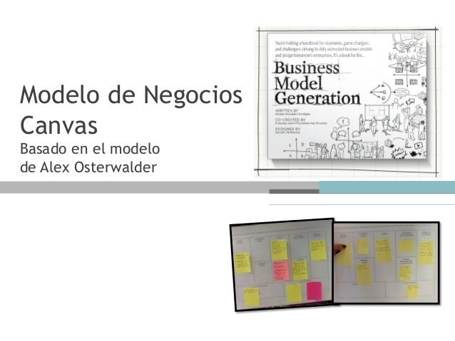 Modelo de NegociosCanvasBasado en el modelode Alex Osterwalder