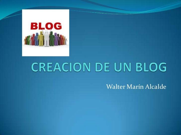 Creacion de un blog