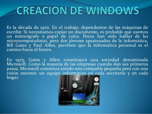 Creacion de windows