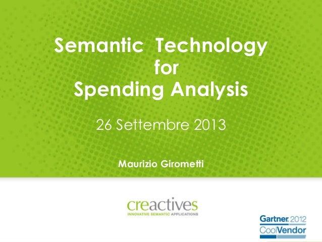 Creactives - Spending Analysis