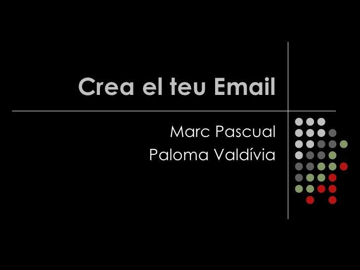 Crea El Teu Email