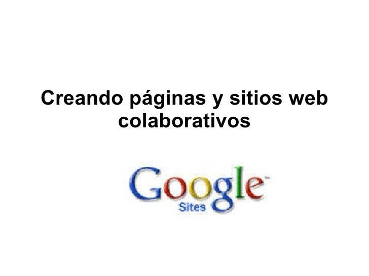 Creando páginas y sitios web colaborativos