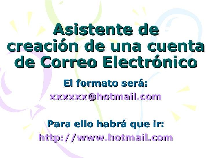 Crear una cuenta de Correo Electronico en Hotmail