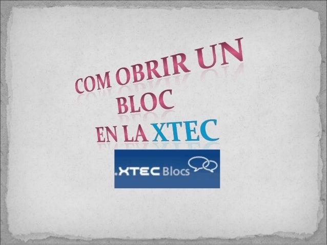 Crear Xtecblocs