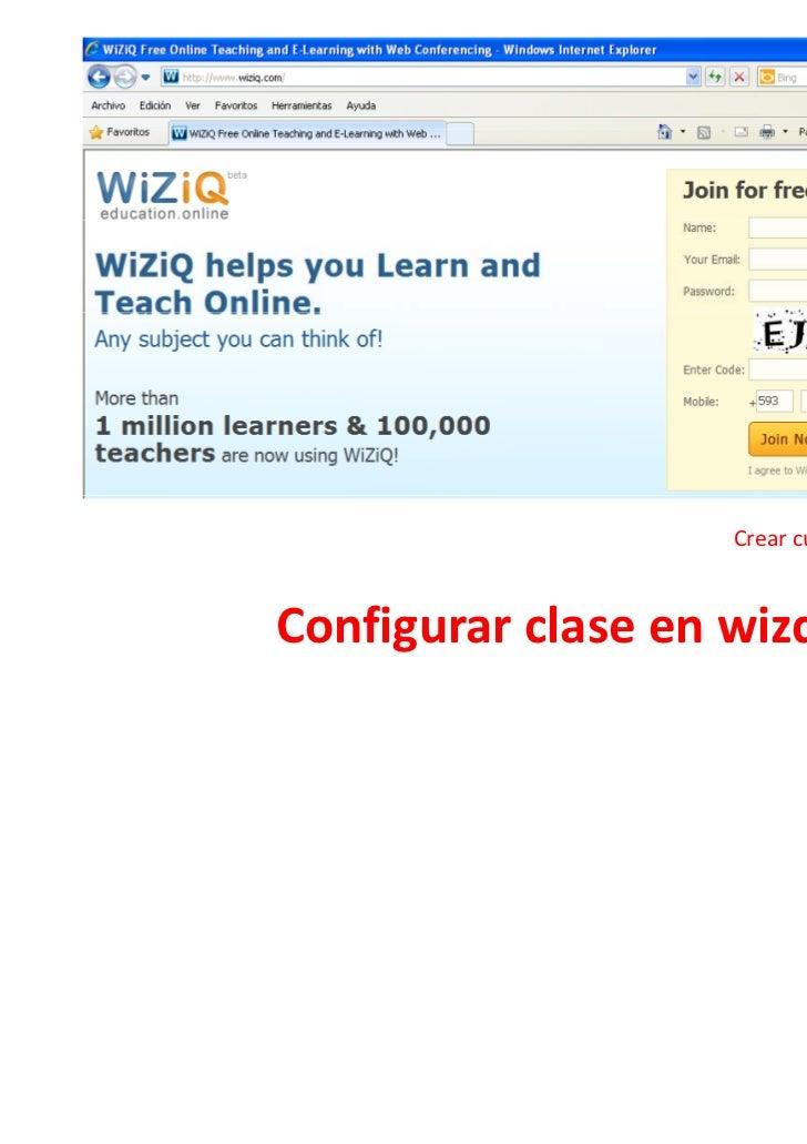 Crear clase en wizq