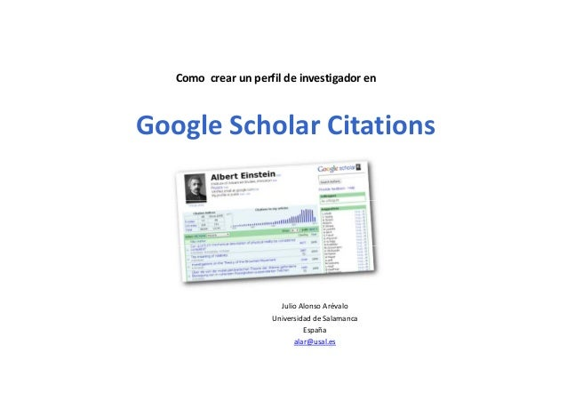 Como crear perfil de investigador en Google Scholar Citations