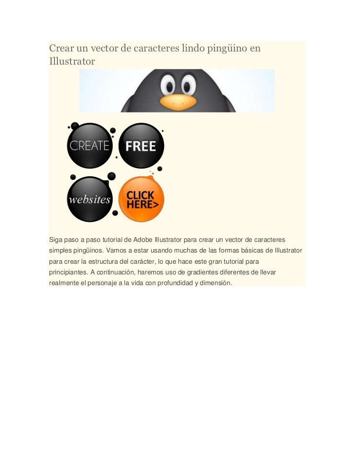 Crear un vector de caracteres lindo pingüino enIllustratorSiga paso a paso tutorial de Adobe Illustrator para crear un vec...