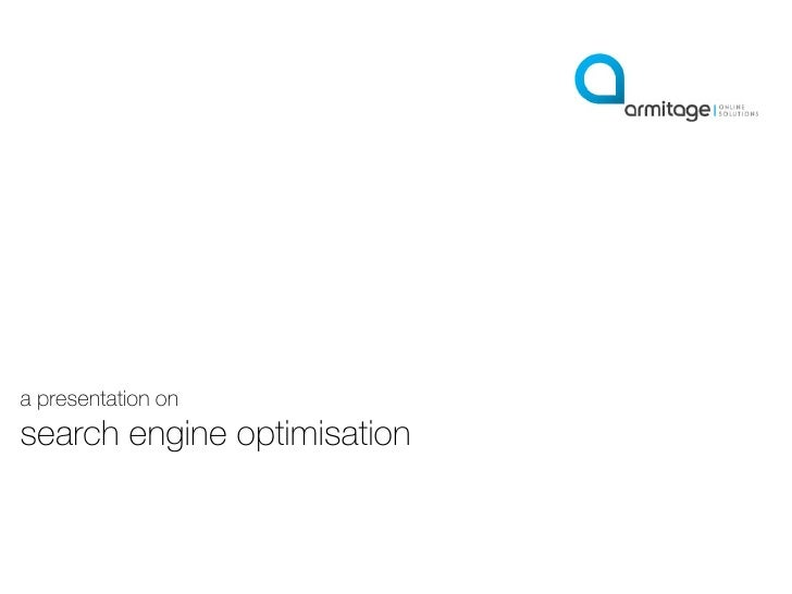 a presentation on search engine optimisation