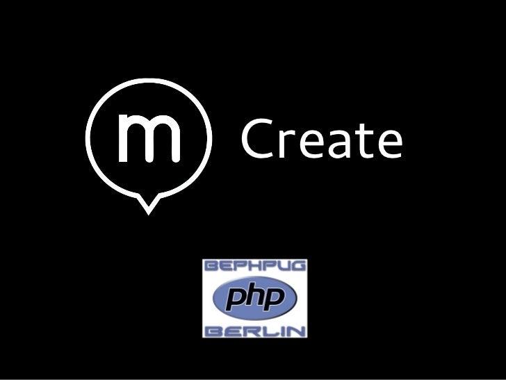 Create - Decoupled CMS interface