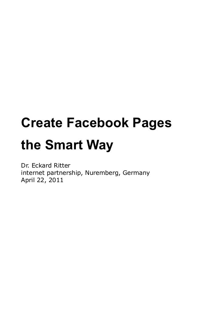 Create Facebook Pages