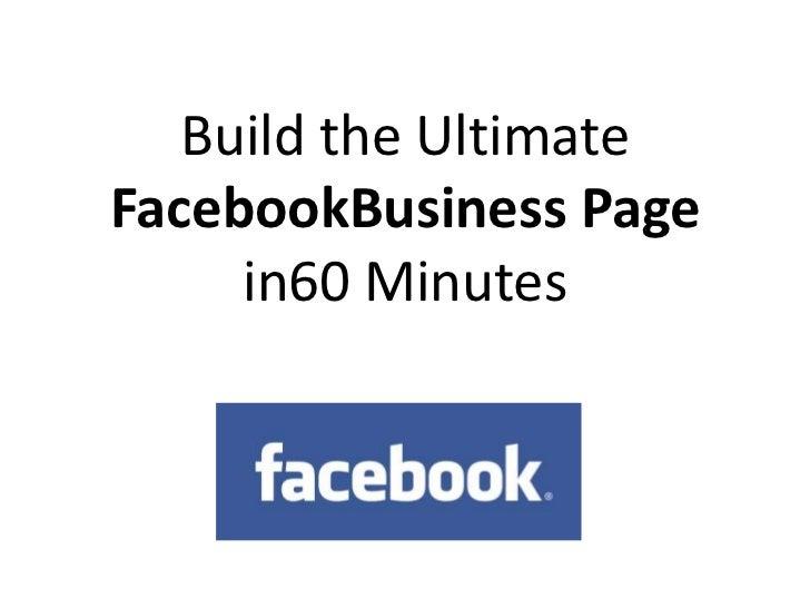 Create ultimate-facebook-page-60-mins