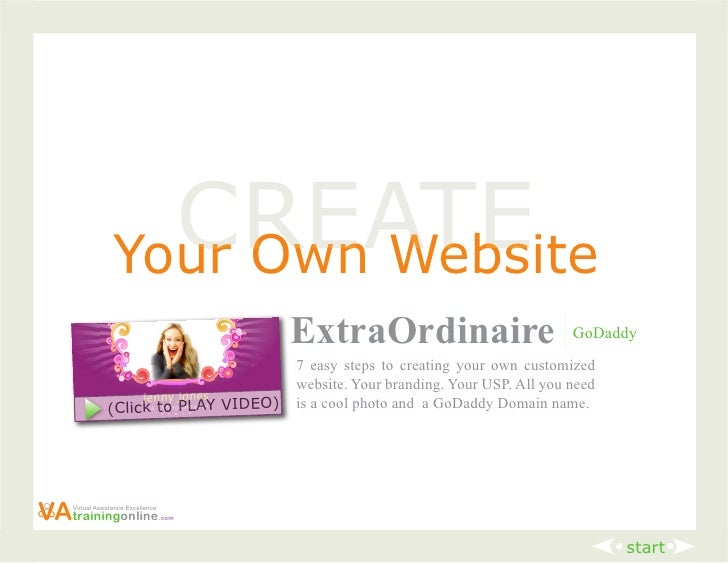 How to create your own remarkable website that attracts Start my own website