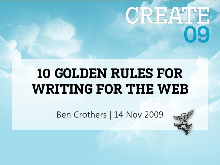 10 Golden Rules for writing for the web