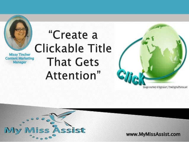 Create a clickable title that gets attention