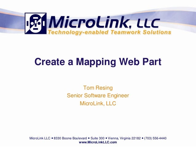 Create A Mapping Web Part
